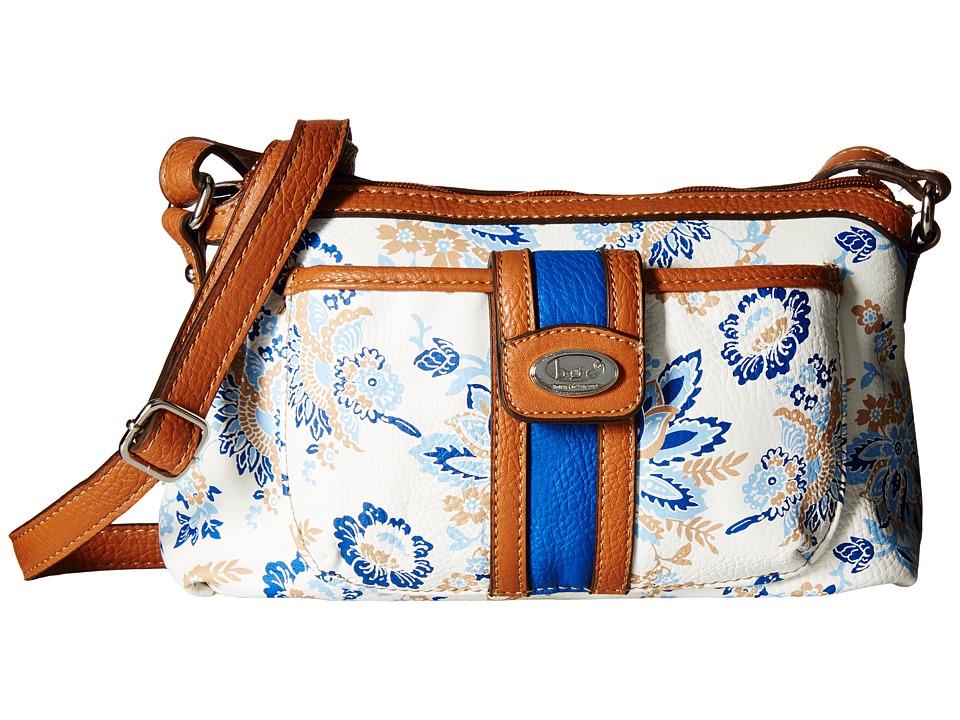 b.o.c. - Vera Cruz East/West Crossbody w/ Pullout Wristlet Floral (Marine) Cross Body Handbags