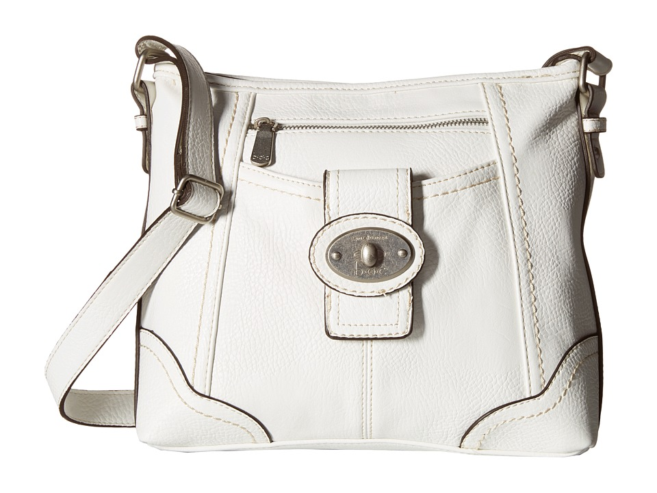 b.o.c. - Gunnerton Large Crossbody Top Zip (White) Cross Body Handbags