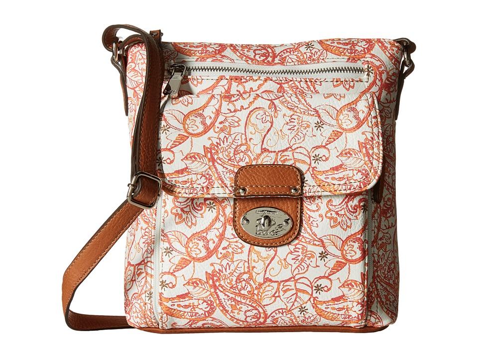 b.o.c. - Vera Cruz Organizer Crossbody Paisley (Papaya) Cross Body Handbags