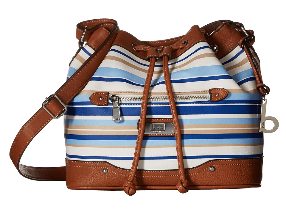 b.o.c. - Vera Cruz East/West Draw String Crossbody Stripe (Marine) Cross Body Handbags