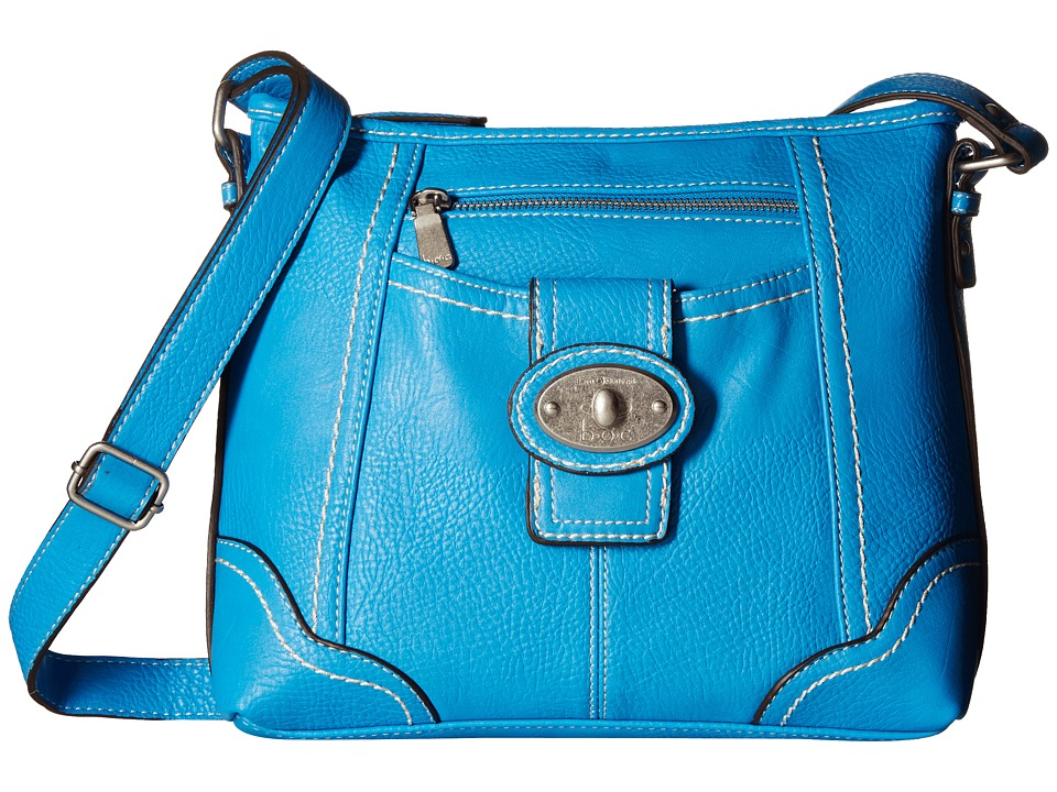 b.o.c. - Gunnerton Large Crossbody Top Zip (Azure) Cross Body Handbags