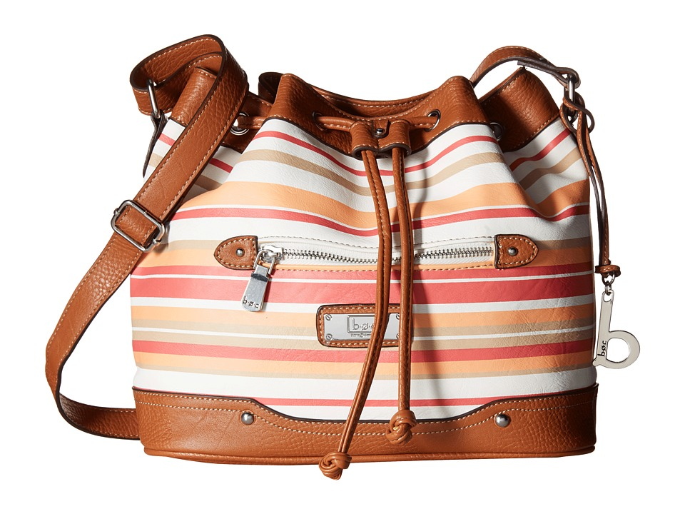 b.o.c. - Vera Cruz East/West Draw String Crossbody Stripe (Papaya) Cross Body Handbags
