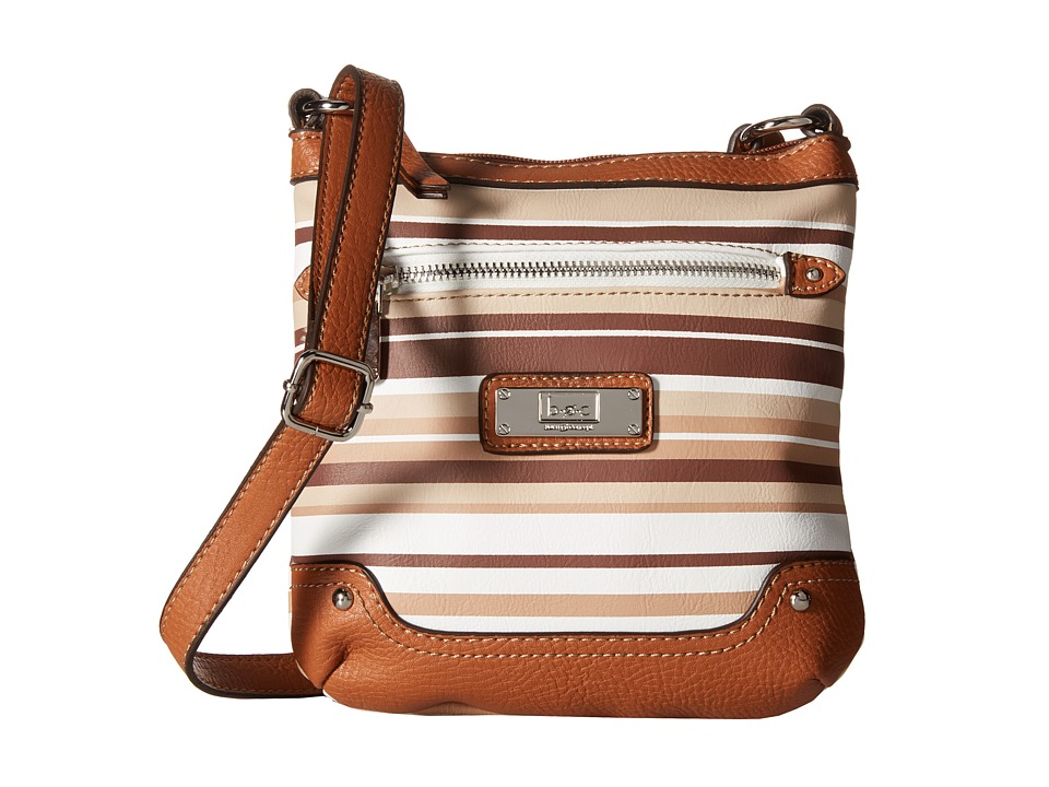 b.o.c. - Vera Cruz Crossbody Stripe (Cocoa) Cross Body Handbags