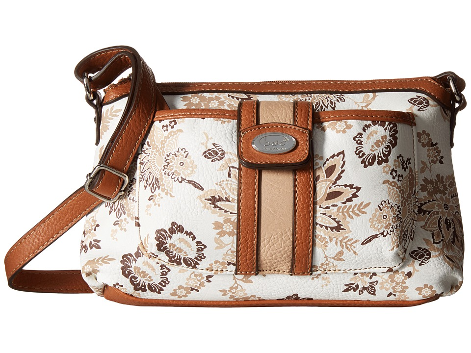 b.o.c. - Vera Cruz East/West Crossbody w/ Pullout Wristlet Floral (Cocoa) Cross Body Handbags