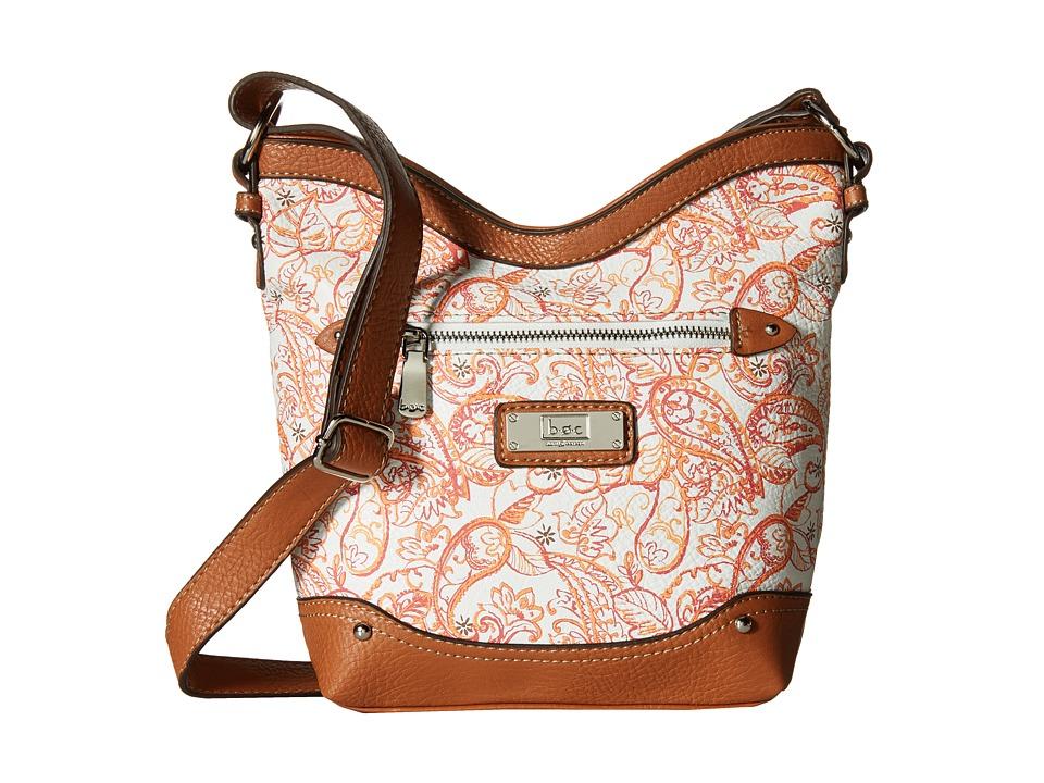 b.o.c. - Vera Cruz Tulip Crossbody Paisley (Papaya) Cross Body Handbags