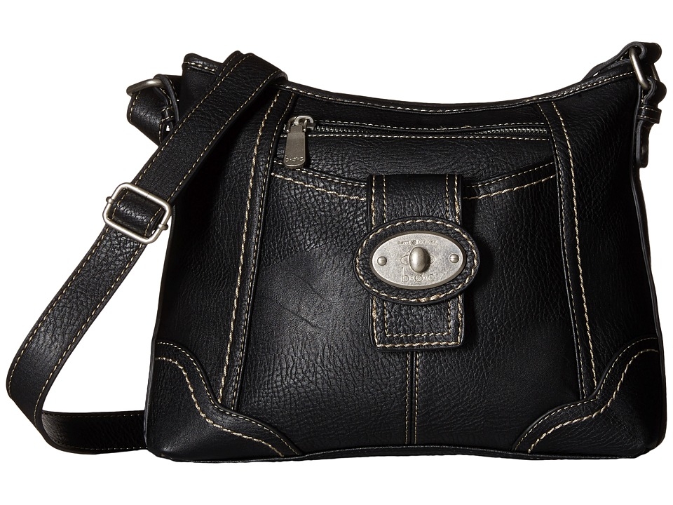 b.o.c. - Gunnerton Large Crossbody Top Zip (Black) Cross Body Handbags