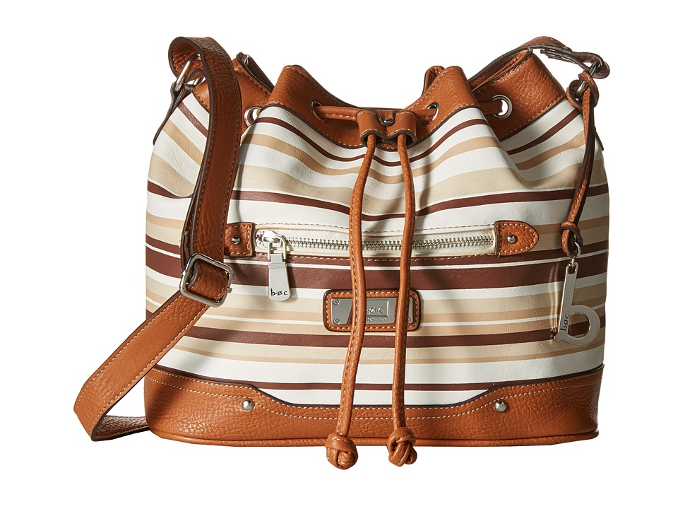 b.o.c. - Vera Cruz East/West Draw String Crossbody Stripe (Cocoa) Cross Body Handbags