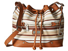 Vera Cruz East/West Draw String Crossbody Stripe