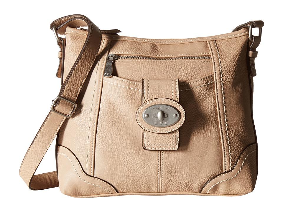 b.o.c. - Gunnerton Large Crossbody Top Zip (Stone) Cross Body Handbags