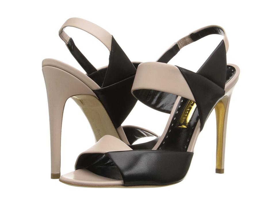 Rupert Sanderson - Glynnis Sandal (Lotion/Black Calf) High Heels