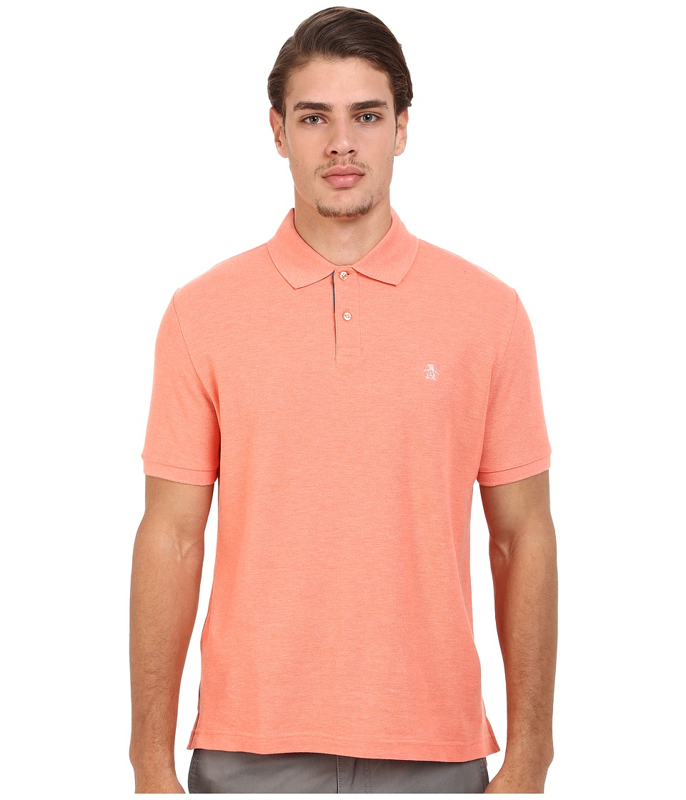 Original Penguin - Daddy-O Polo (Fusion Coral) Men's Short Sleeve Knit