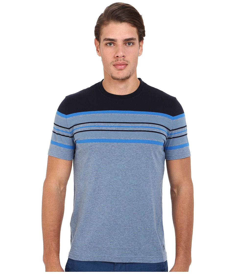 Original Penguin - Engineered Stripe Tee (Captains Blue) Men's T Shirt