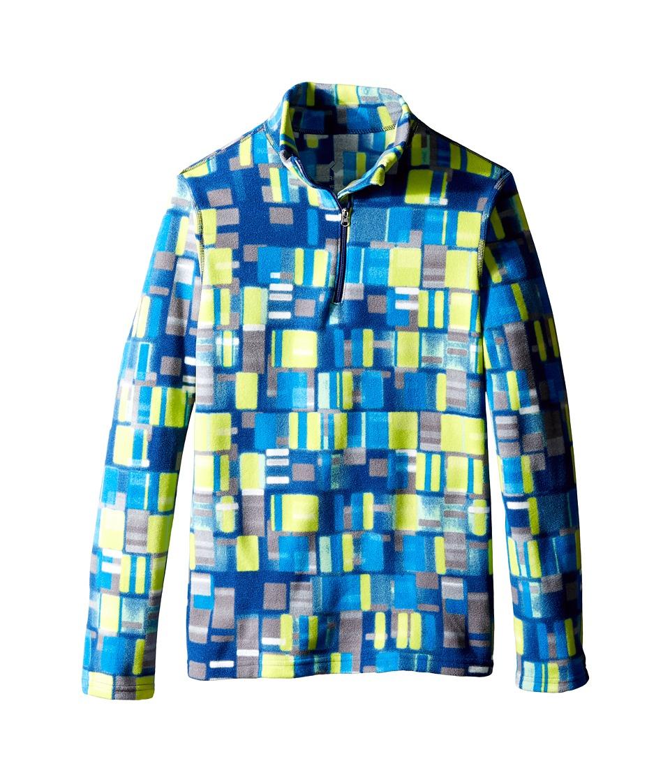 Obermeyer Kids - Bomber Pro 100 Wt Zip Top (Toddler/Little Kids/Big Kids) (Moving Squares) Kid's Clothing