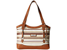 Vera Cruz Scooped Out Shopper Tote Stripe
