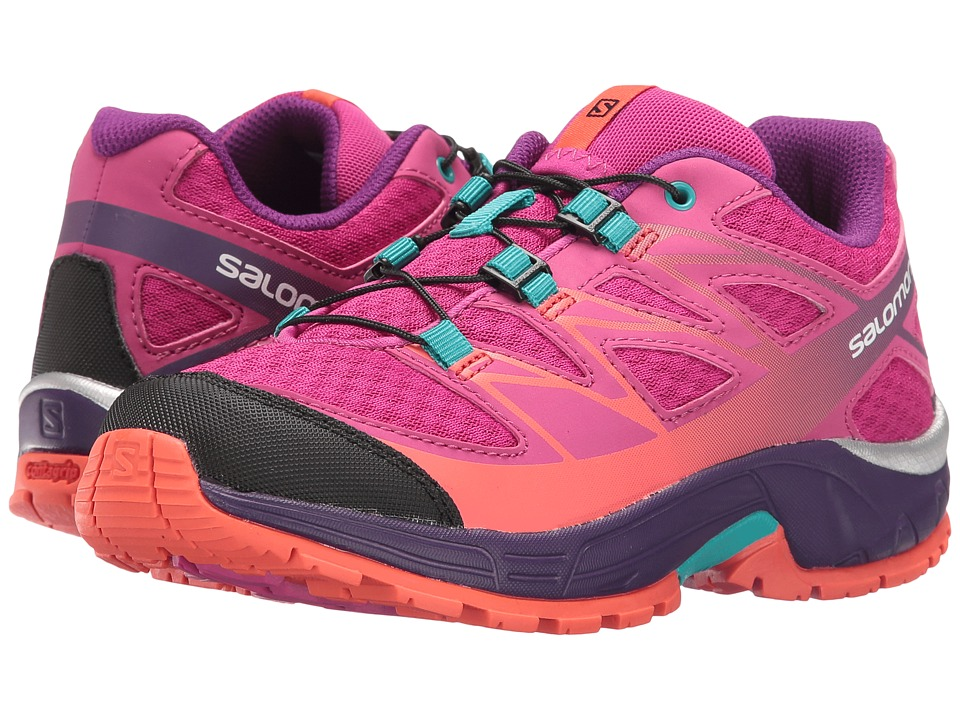 Salomon Kids - Wings (Little Kid/Big Kid) (Deep Dalhia/Cosmic Purple/Coral Punch) Girls Shoes