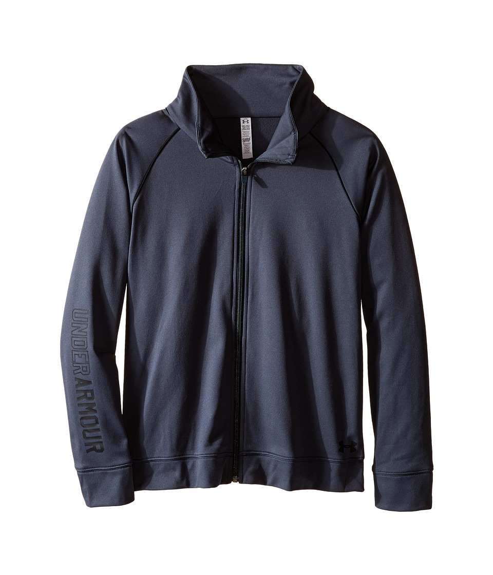 Under Armour Kids Rival Warm Up Jacket (Big Kids) (Stealth Gray/Black) Girl