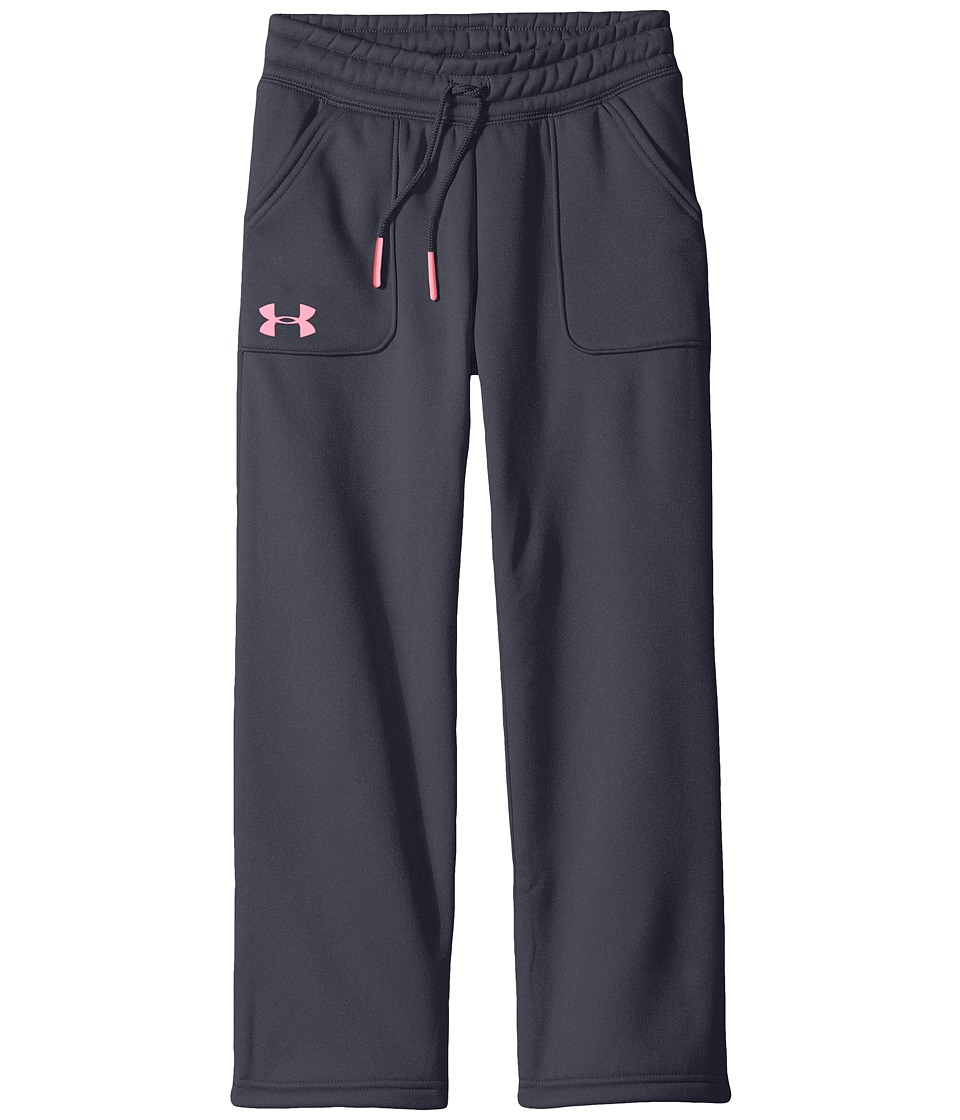 Under Armour Kids - Storm Armour Fleece Training Pants (Big Kids) (Stealth Gray/Pink Punk) Girl's Casual Pants
