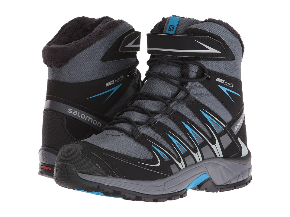 Salomon Kids - XA Pro 3D Winter TS CSWP (Little Kid/Big Kid) (Grey Denim/Black/Methyl Blue) Boys Shoes