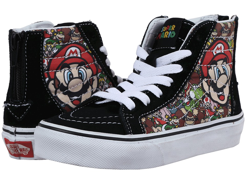 Vans Kids - Sk8-Hi Zip (Little Kid/Big Kid) ((Nintendo) Mario & Luigi/True White) Kids Shoes