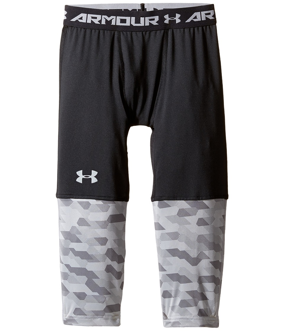 Under Armour Kids - SC30 3/4 Leggings (Big Kids) (Black/Steel/Steel) Boy's Casual Pants