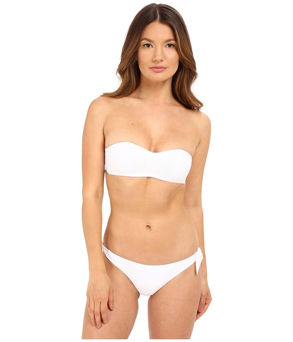 Emporio Armani Bandeau Bikini (White) Women