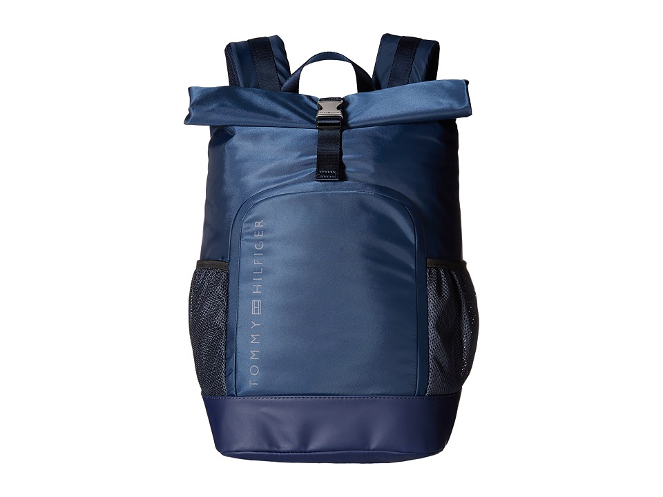 Tommy Hilfiger - Urban-Roll Top Backpack-Nylon (Navy) Backpack Bags