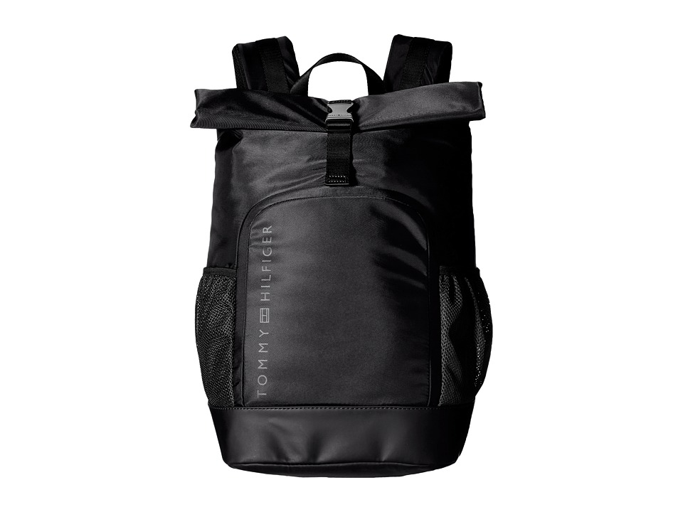 Tommy Hilfiger - Urban-Roll Top Backpack-Nylon (Black) Backpack Bags