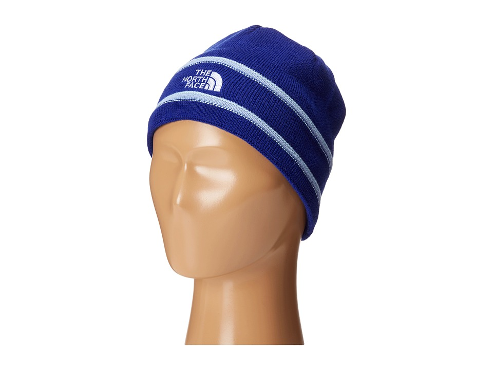 The North Face Kids - TNF Logo Beanie (Big Kids) (Lapis Blue/Grapemist Blue) Beanies