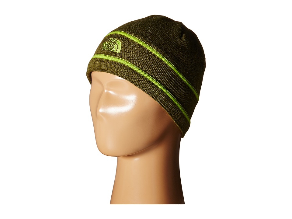 The North Face Kids - TNF Logo Beanie (Big Kids) (Terrarium Green/Chive Green) Beanies