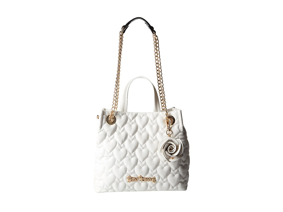 Betsey Johnson - Bee Mine Shopper (White) Handbags