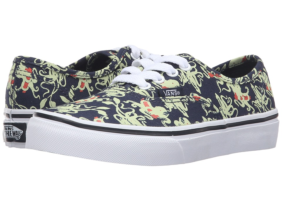 Vans Kids Authentic (Little Kid/Big Kid) ((Glow in the Dark) Octopus/Navy) Boys Shoes
