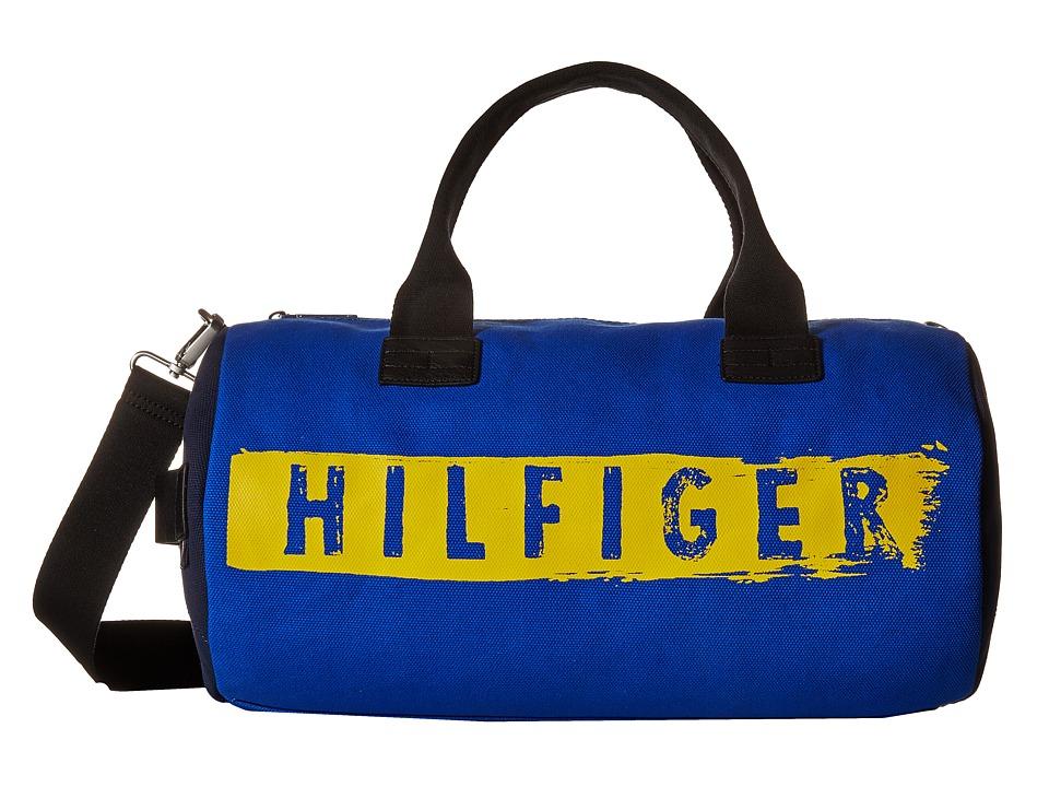 Tommy Hilfiger - Hilfiger Duffles-Duffel-Washed Canvas w/ PU Trim (Cobalt) Duffel Bags