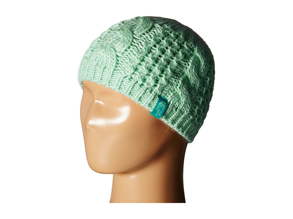 The North Face Kids - Cable Minna Beanie (Big Kids) (Ice Green) Beanies