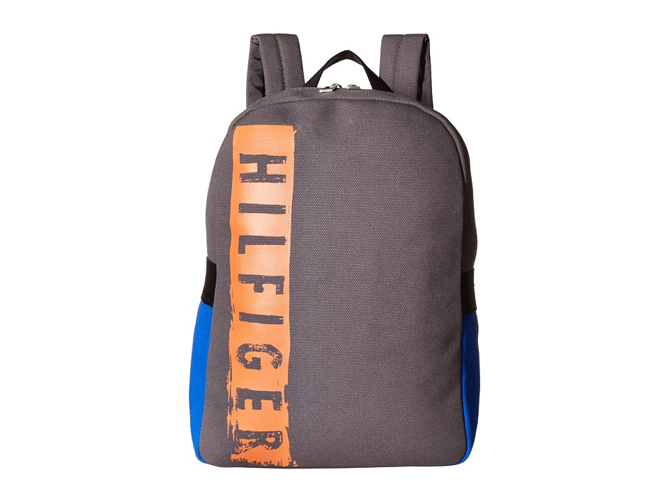 Tommy Hilfiger - Hilfiger Duffles-Backpack-Washed Canvas w/ PU Trim (Grey) Backpack Bags