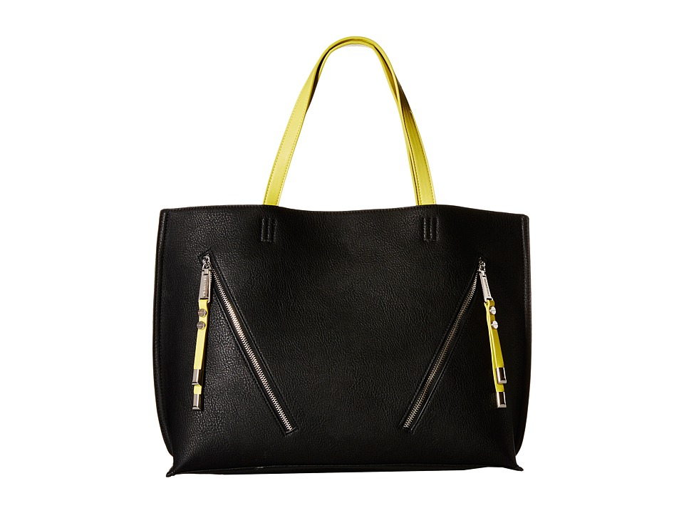 Steve Madden - Bqueenie (Black/Citron) Tote Handbags