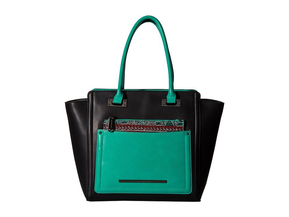 Steve Madden - Bjolie (Black/Turquoise/Print) Satchel Handbags