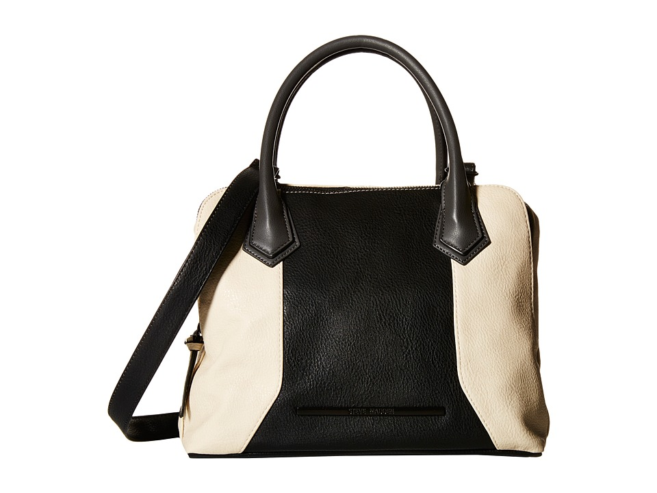 Steve Madden - Bmaya (Cream/Black/Slate) Satchel Handbags
