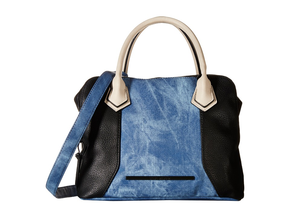 Steve Madden - Bmaya (Black/Denim/Bisque) Satchel Handbags