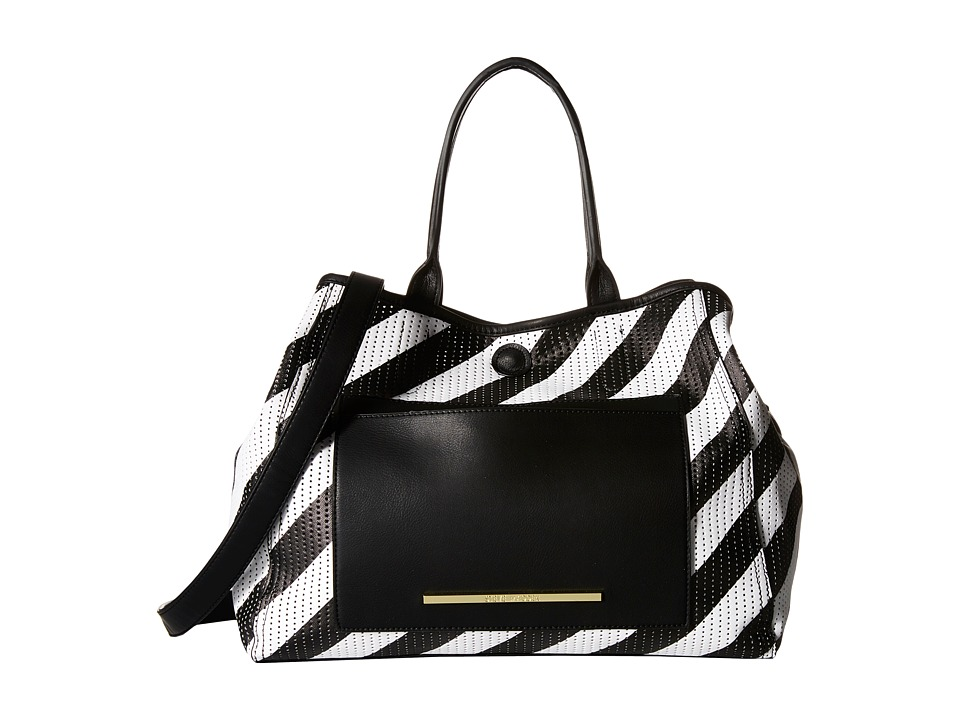 Steve Madden - Bchappie (Black/White Stripe) Tote Handbags