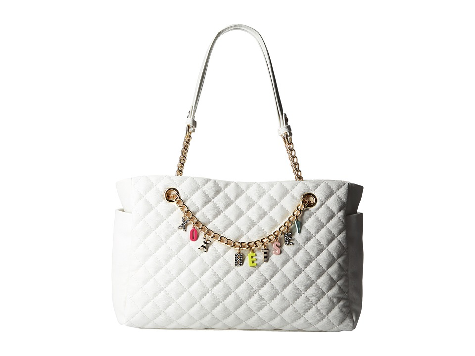 Betsey Johnson - Give Me A B Satchel (White) Satchel Handbags