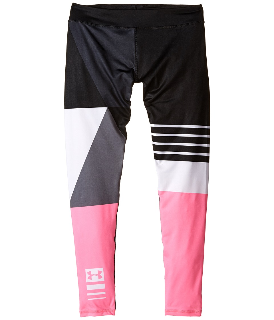 Under Armour Kids - Mix Master Leggings (Big Kids) (Black/Pink Punk) Girl's Casual Pants
