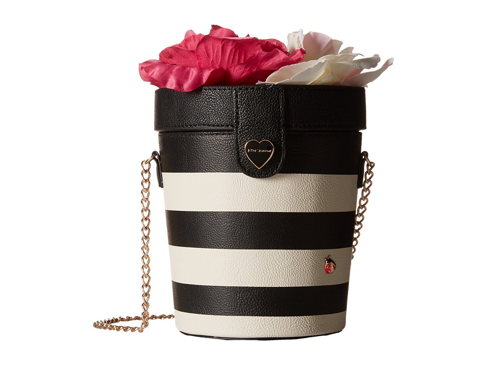Betsey Johnson - Flower Pot Crossbody (Stripe) Cross Body Handbags