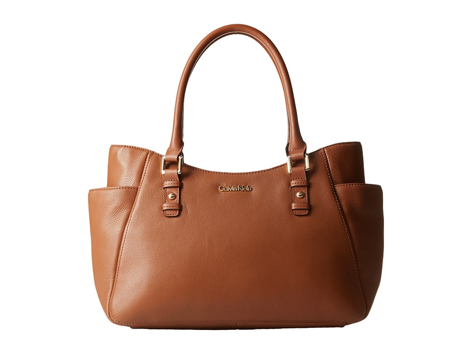 Calvin Klein - Pebble Shopper (Luggage) Tote Handbags