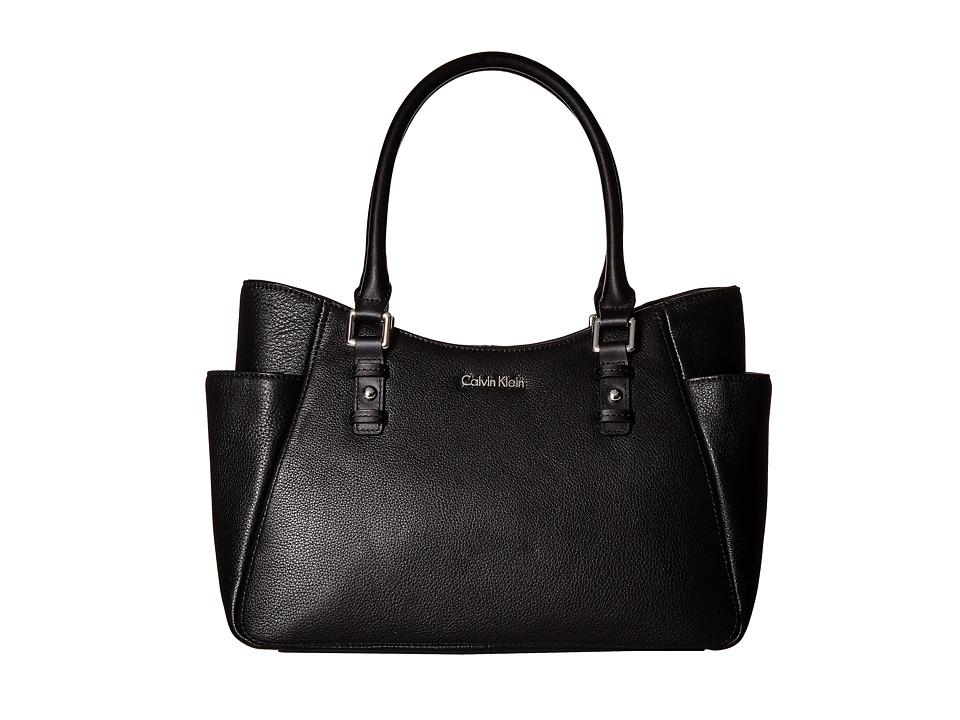 Calvin Klein - Pebble Shopper (Black/Silver) Tote Handbags