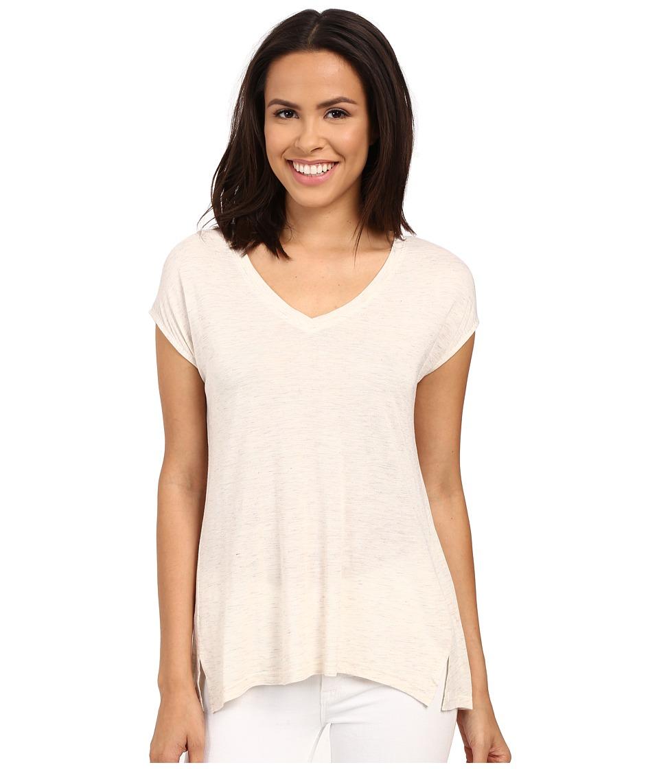B Collection by Bobeau - Violet Space Dye T-Shirt (Oatmeal) Women's T Shirt
