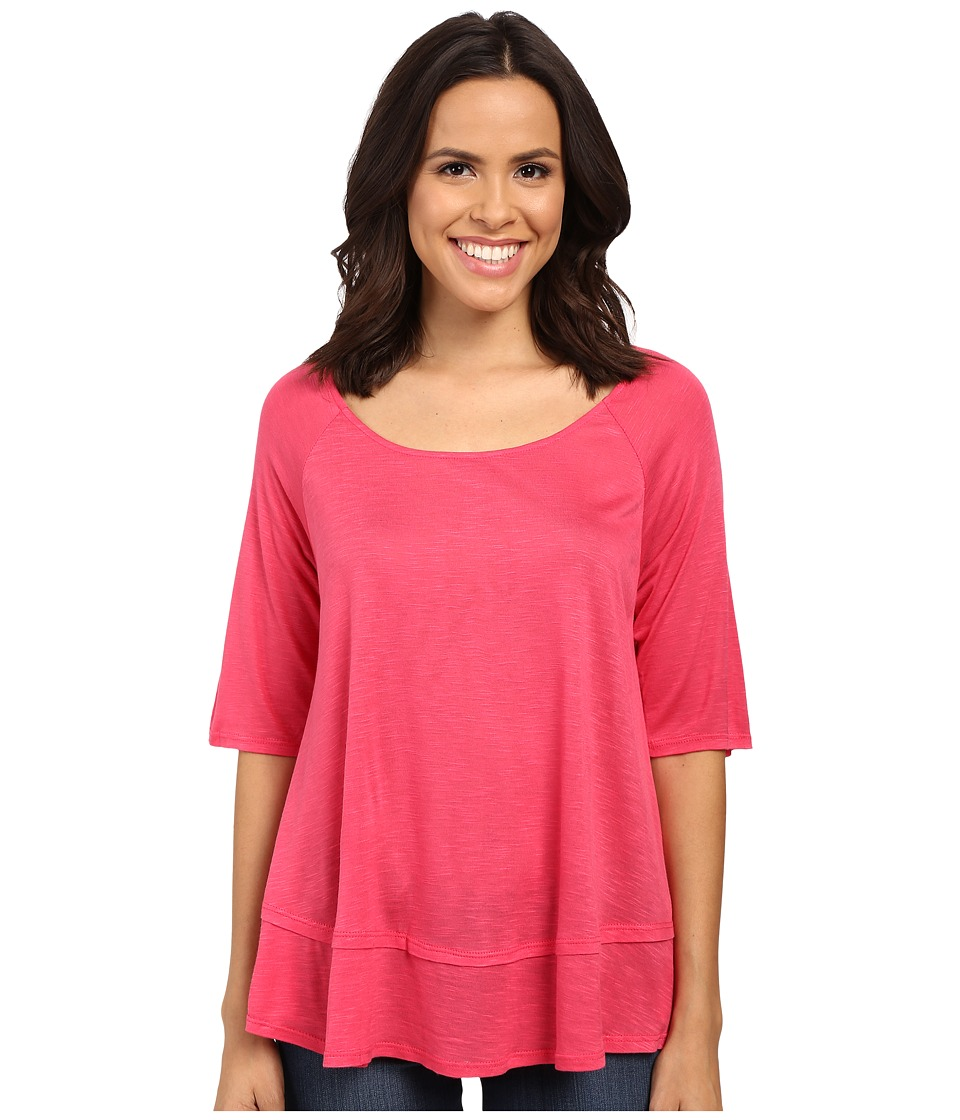 B Collection by Bobeau - Oversized T-Shirt (Deep Coral) Women's Short Sleeve Pullover
