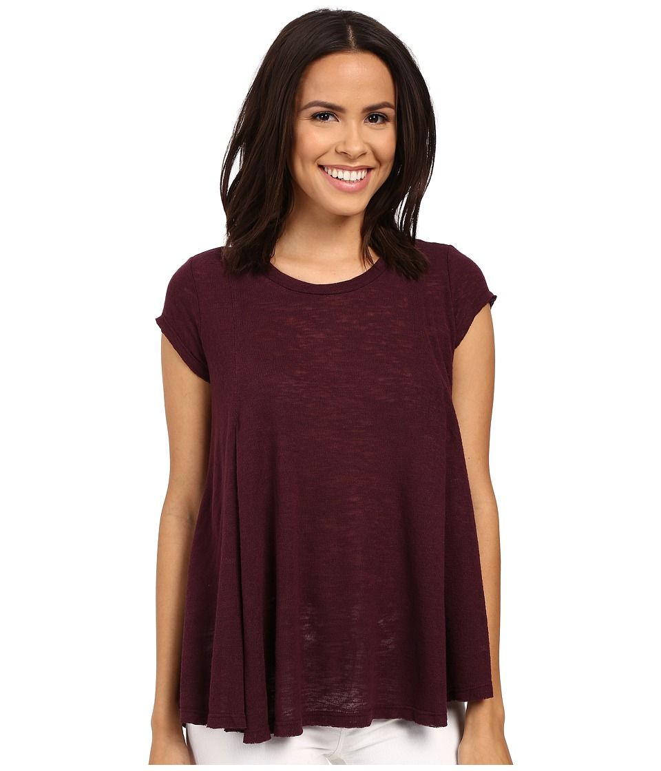 B Collection by Bobeau - Posy Swing Knit T-Shirt (Berry) Women's T Shirt