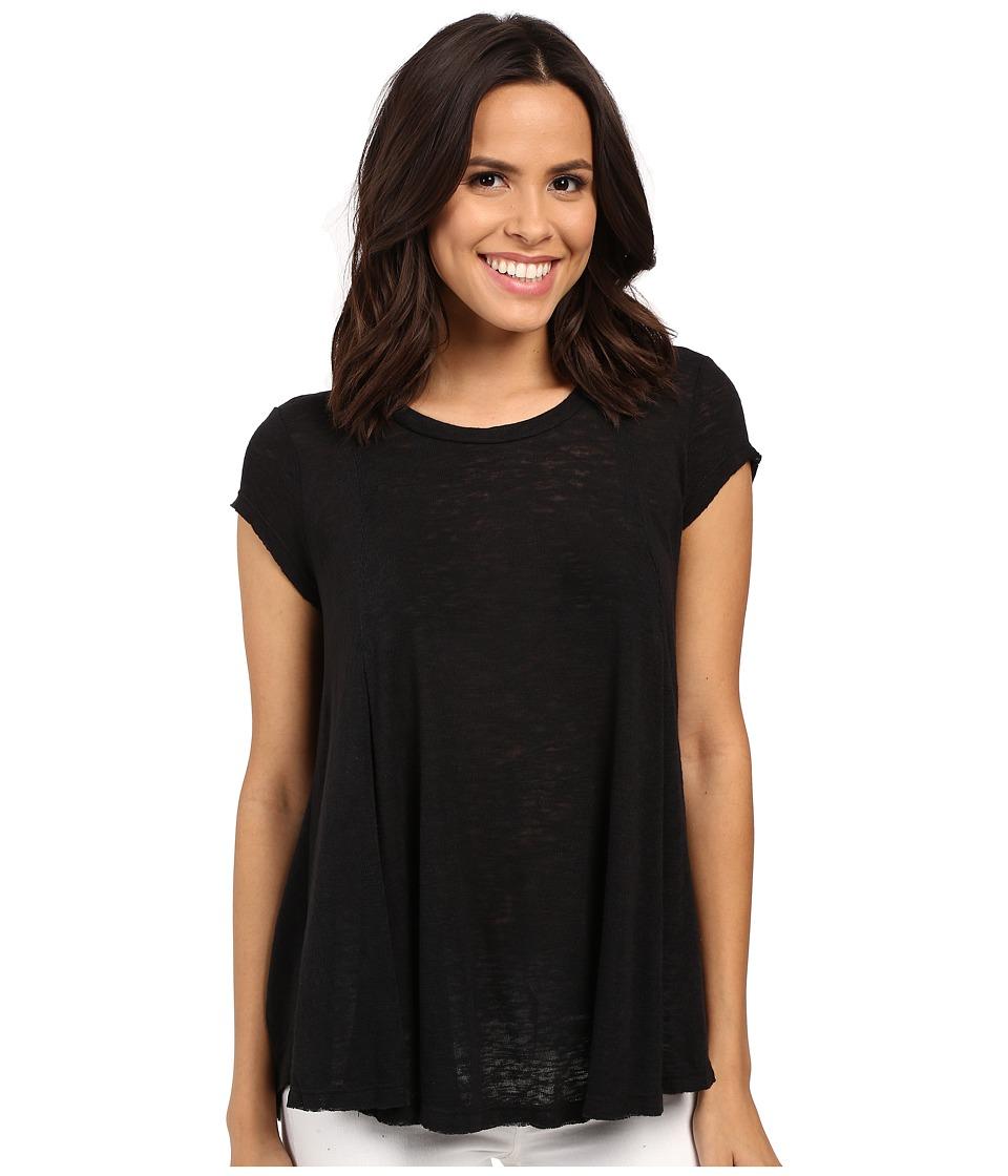 B Collection by Bobeau - Posy Swing Knit T-Shirt (Black) Women's T Shirt
