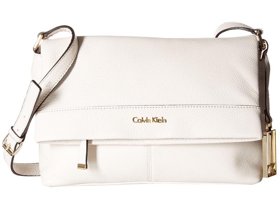 Calvin Klein - Pebble Crossbody (White) Cross Body Handbags