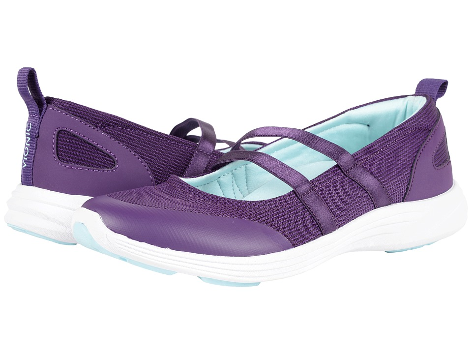 VIONIC - Agile Opal Slip-On (Purple) Women's Flat Shoes